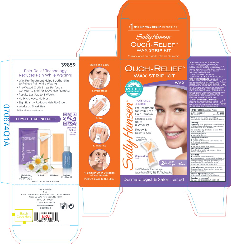 Principal Display Panel - Sally Hansen Ouch-Relief Wax Strip Kit Label