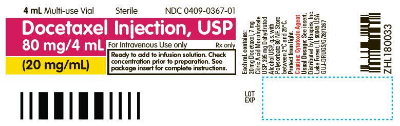 PRINCIPAL DISPLAY PANEL - 4 mL Vial Label