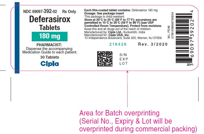 Deferasirox Film-coated Tablets Bottles of 30 tablets