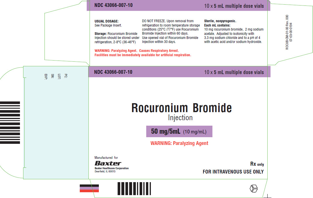 Rocuronium Representative Carton Label 50mg 43066-007-10 2 of 4