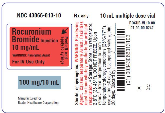 Rocuronium Representative Carton Label 50mg 43066-007-10 3 of 4