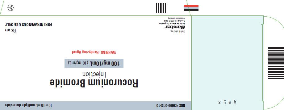 Rocuronium Representative Carton Label 100mg 43066-013-10 1 of 4
