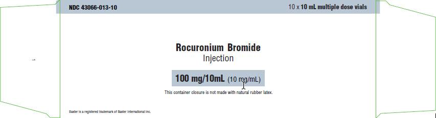 Rocuronium Representative Carton Label 100mg 43066-013-10 4 of 4
