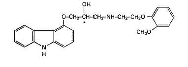 structured formula for carvedilol