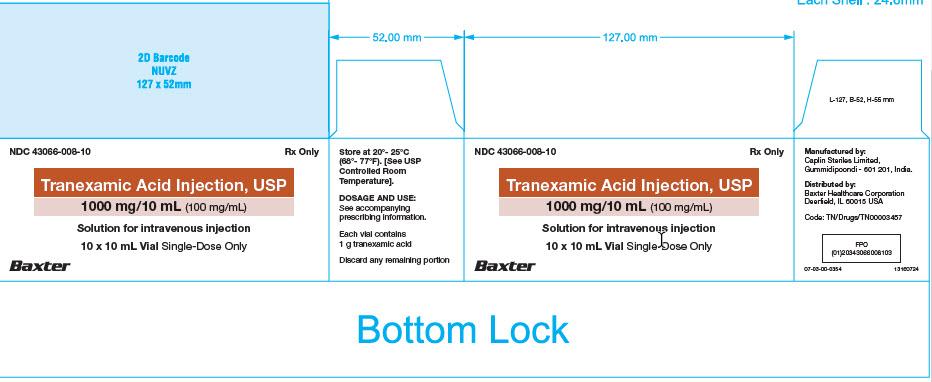 Tranexamic Acid Carton Label 43066-008-10