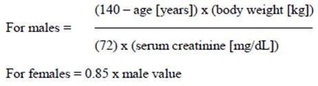 estimated creatinine clearance