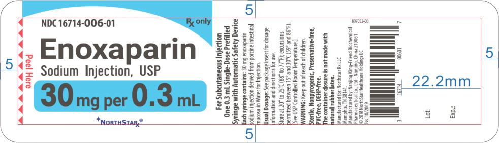Principal Display Panel – Enoxaparin Sodium Injection, USP 30 mg Blister Pack Northstar Label
