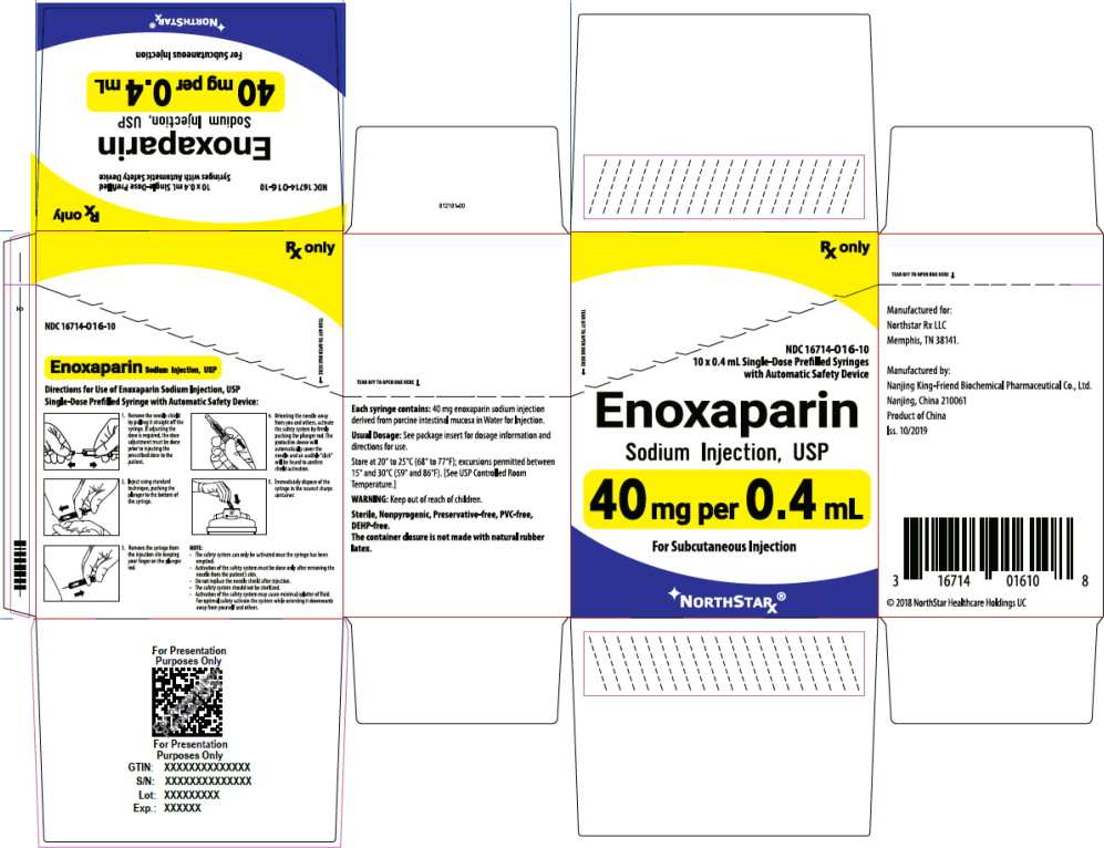 Principal Display Panel – Enoxaparin Sodium Injection, USP 40 mg Northstar Carton