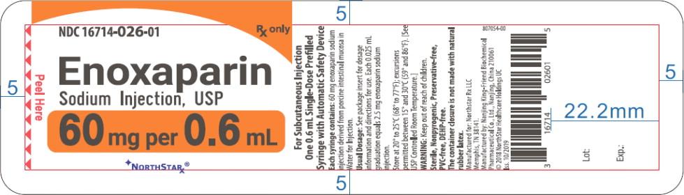 Principal Display Panel – Enoxaparin Sodium Injection, USP 60 mg Blister Pack Northstar Label