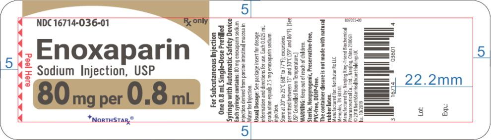 Principal Display Panel – Enoxaparin Sodium Injection, USP 80 mg Blister Pack Northstar Label