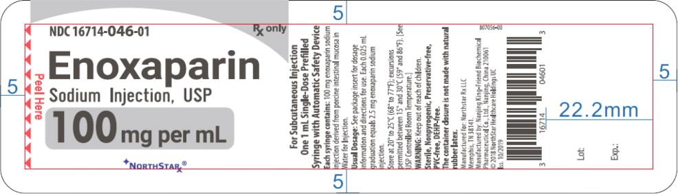 Principal Display Panel – Enoxaparin Sodium Injection, USP 100 mg Blister Pack Northstar Label