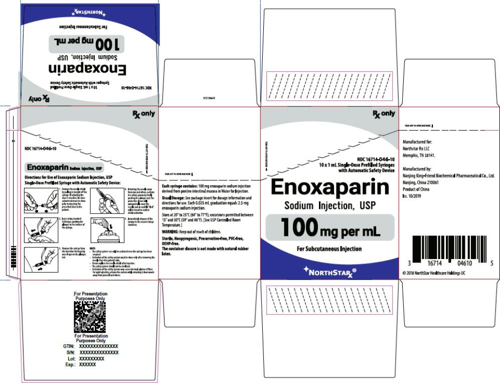 Principal Display Panel – Enoxaparin Sodium Injection, USP 100 mg Northstar Carton
