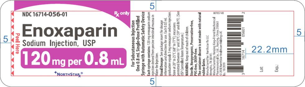 Principal Display Panel – Enoxaparin Sodium Injection, USP 120 mg Blister Pack Northstar Label