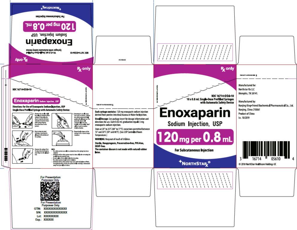 Principal Display Panel – Enoxaparin Sodium Injection, USP 120 mg Northstar Carton