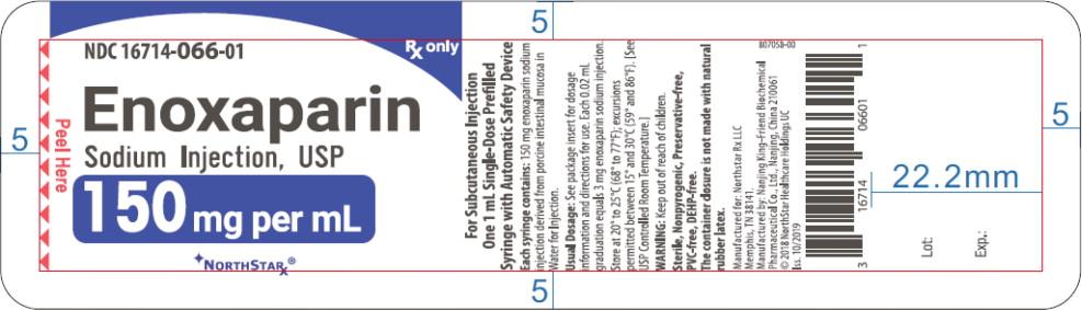 Principal Display Panel – Enoxaparin Sodium Injection, USP 150 mg Blister Pack Northstar Label