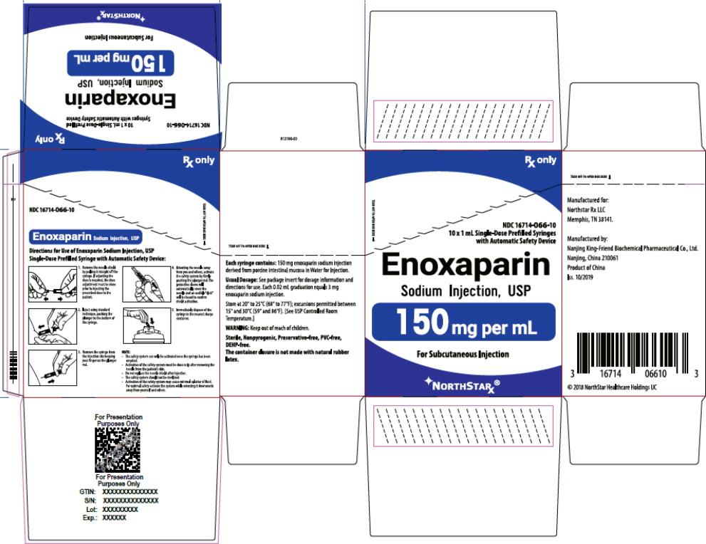 Principal Display Panel – Enoxaparin Sodium Injection, USP 150 mg Northstar Carton