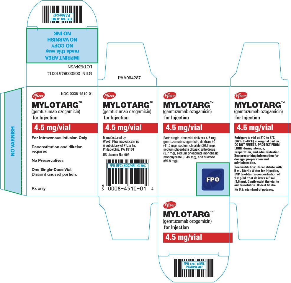 Principal Display Panel - 4.5 mg Vial Carton