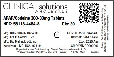 APAP-Codeine 300-30mg tablets 30 count blister card