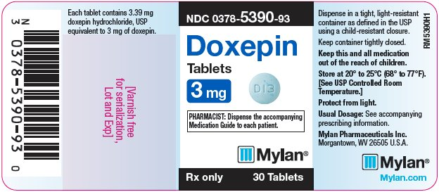 Doxepin Tablets 6 mg Bottle Label
