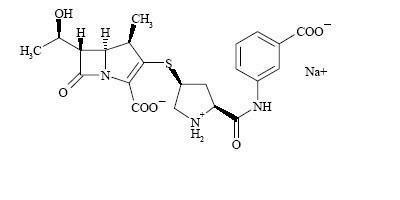 Image of Ertapenem sodium chemical structure