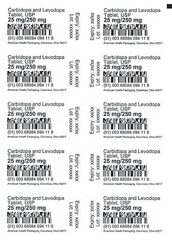 25 mg/250 mg Carbidopa/Levodopa Tablets Card Print