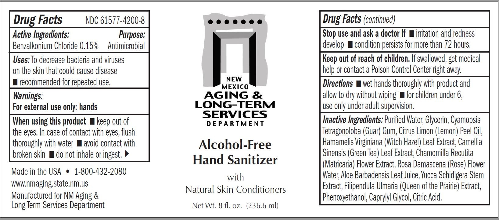 New Mexico Aging and Long Term Services Hand Sanitizer