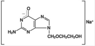 Acyclovir sodium structure formula
