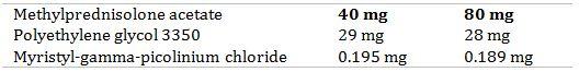 Methylprednisolone Acetate Structural Formula