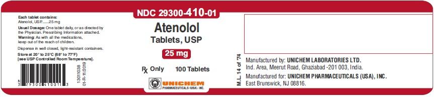Atenolol Tablets USP, 25 mg