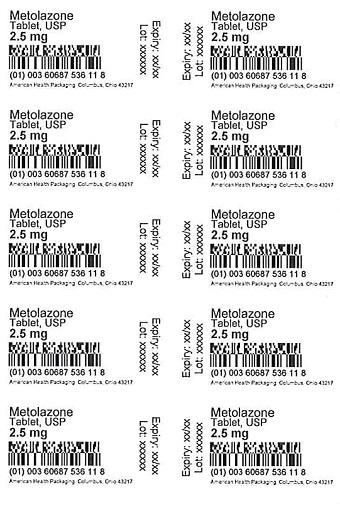 2.5 mg Metolazone Tablet Blister