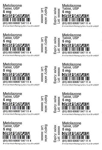 5 mg Metolazone Tablet Blister