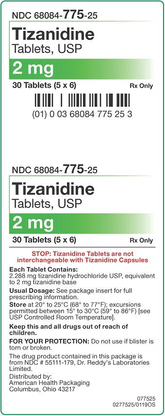 2 mg Tizanidine Tablets Carton