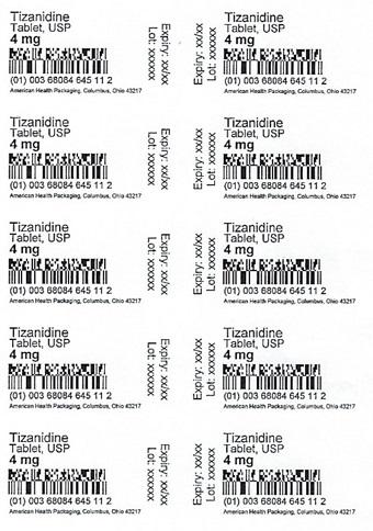 4 mg Tizanidine Tablet Blister
