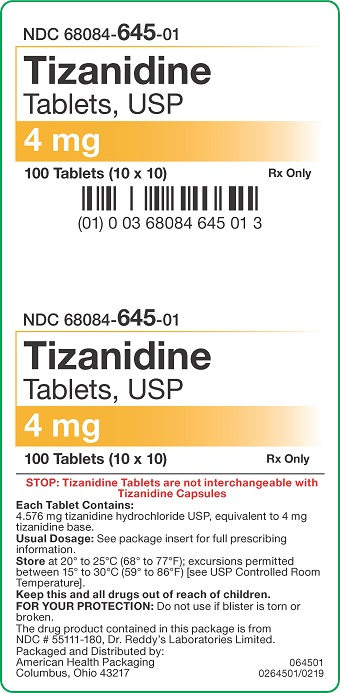 4 mg Tizanidine Tablets Carton