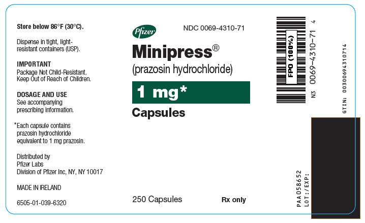 PRINCIPAL DISPLAY PANEL - 1 mg Capsule Bottle Label