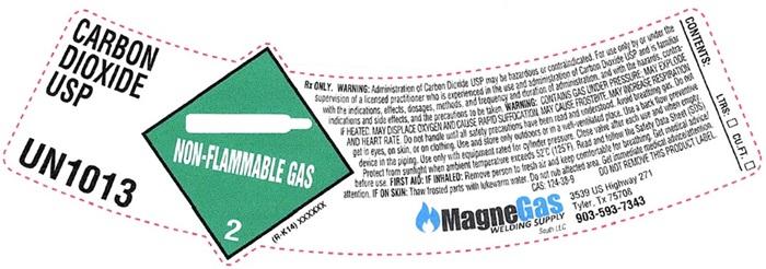 Carbon Dioxide Shoulder Label