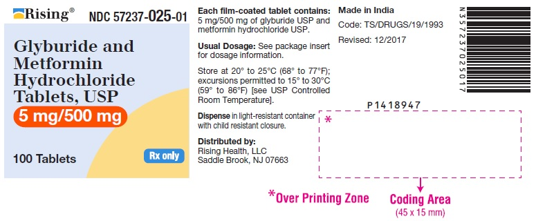 PACKAGE LABEL-PRINCIPAL DISPLAY PANEL - 5 mg/500 mg (100 Tablets Bottle)