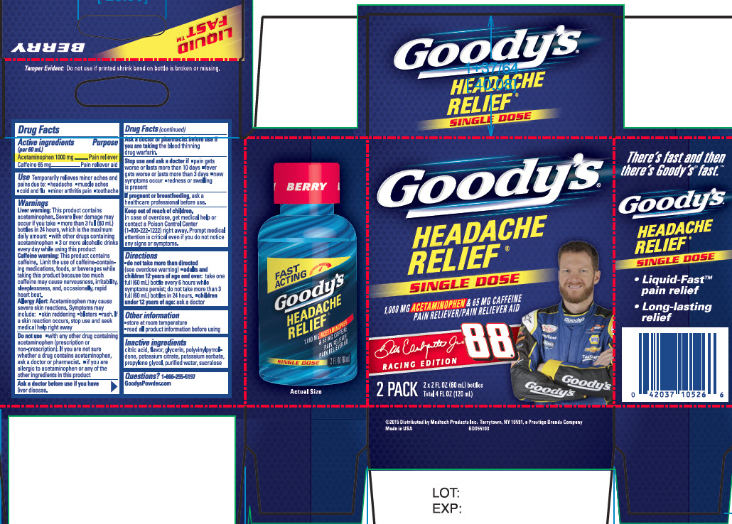 NDC- 63029-639-01 Goody's Headache Relief Shot 2 Pack Berry