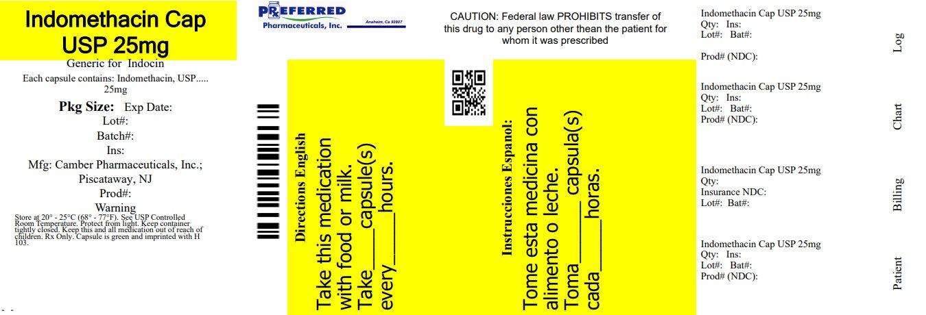 Indomethacin Cap USP 25mg