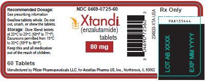 Xtandi (enzalutamide) tablets 80 mg label