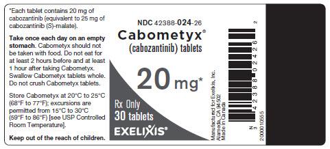 image of bottle label - 20 mg - 30 tablets