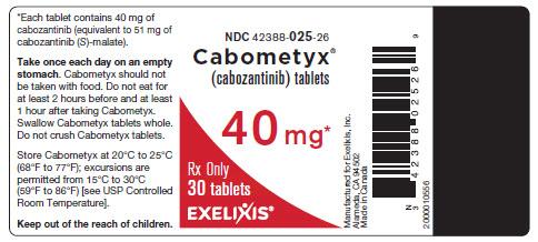 image of bottle label - 40 mg - 30 tablets