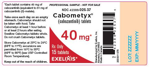 image of bottle label - professional sample - 40 mg - 15 tablets