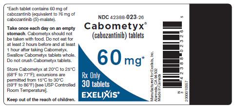 image of bottle label - 60 mg - 30 tablets