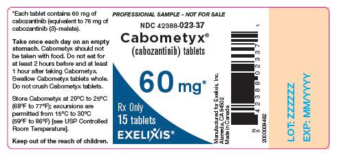 image of bottle label - professional sample - 60 mg - 15 tablets