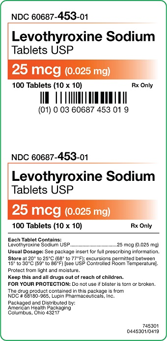25 mcg Levothyroxine Sodium Tablets Carton