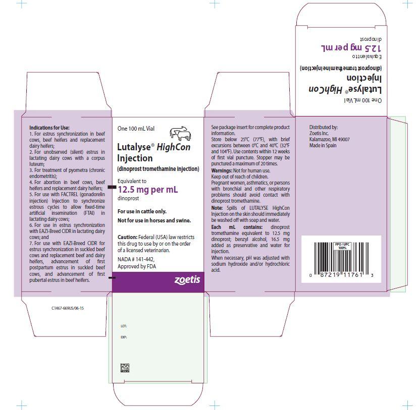 Lutalyse HighCon 100 mL carton