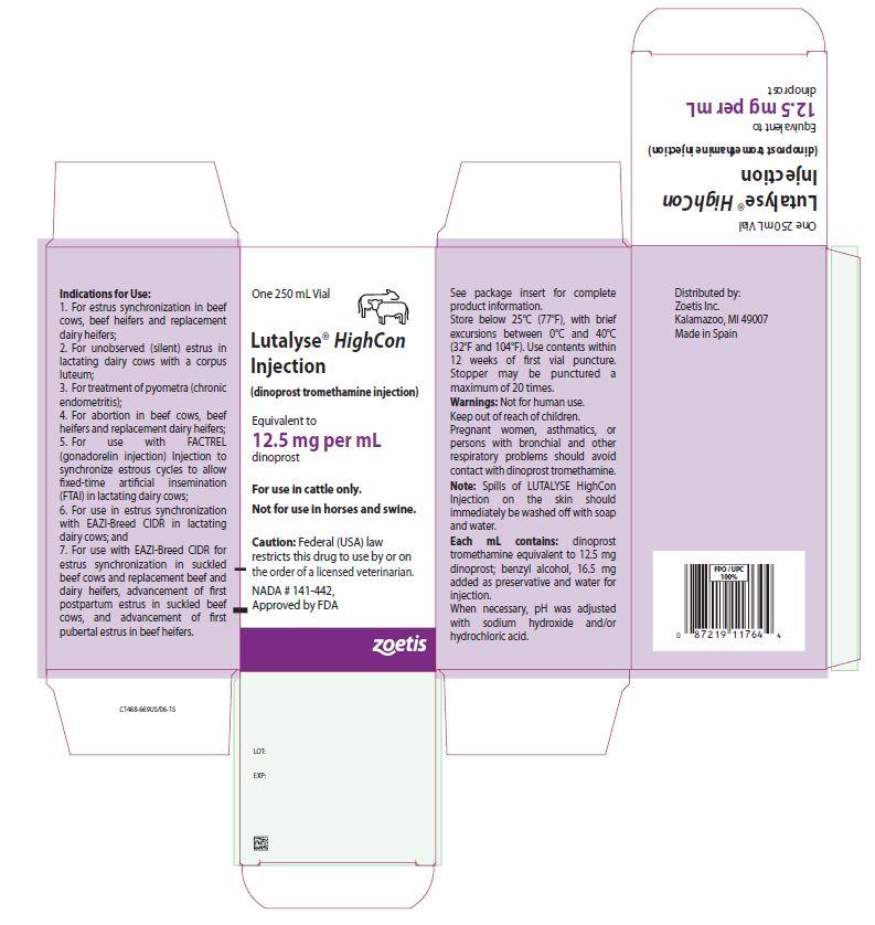 Lutalyse highcon 250 mL carton