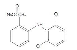 Diclofenac Sodium (structural formula)