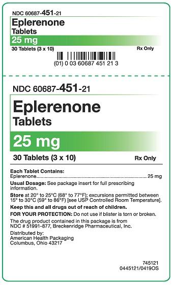 25 mg Eplerenone Tablets Carton